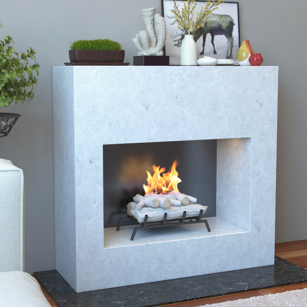 18 Inch Birch Convert to Ethanol Fireplace Log Set with Burner Insert from Gel or Gas Logs-18 Birch Convert to Ethanol Fireplace Log Set with Burner Insert from Gel or Gas Logs This birch ethanol fireplace log conversion kit offers a real fire witho