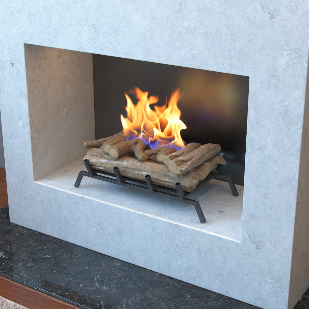 24 Inch Convert To Ethanol Fireplace Log Set With Burner Insert From Gel Or Gas Logs