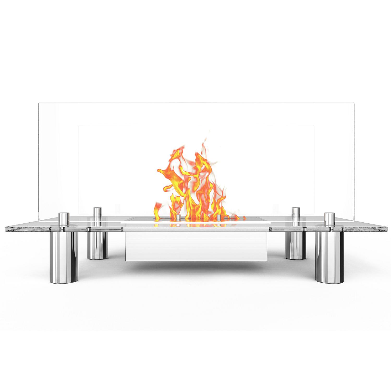 Delano Ventless Free Standing Ethanol Fireplace