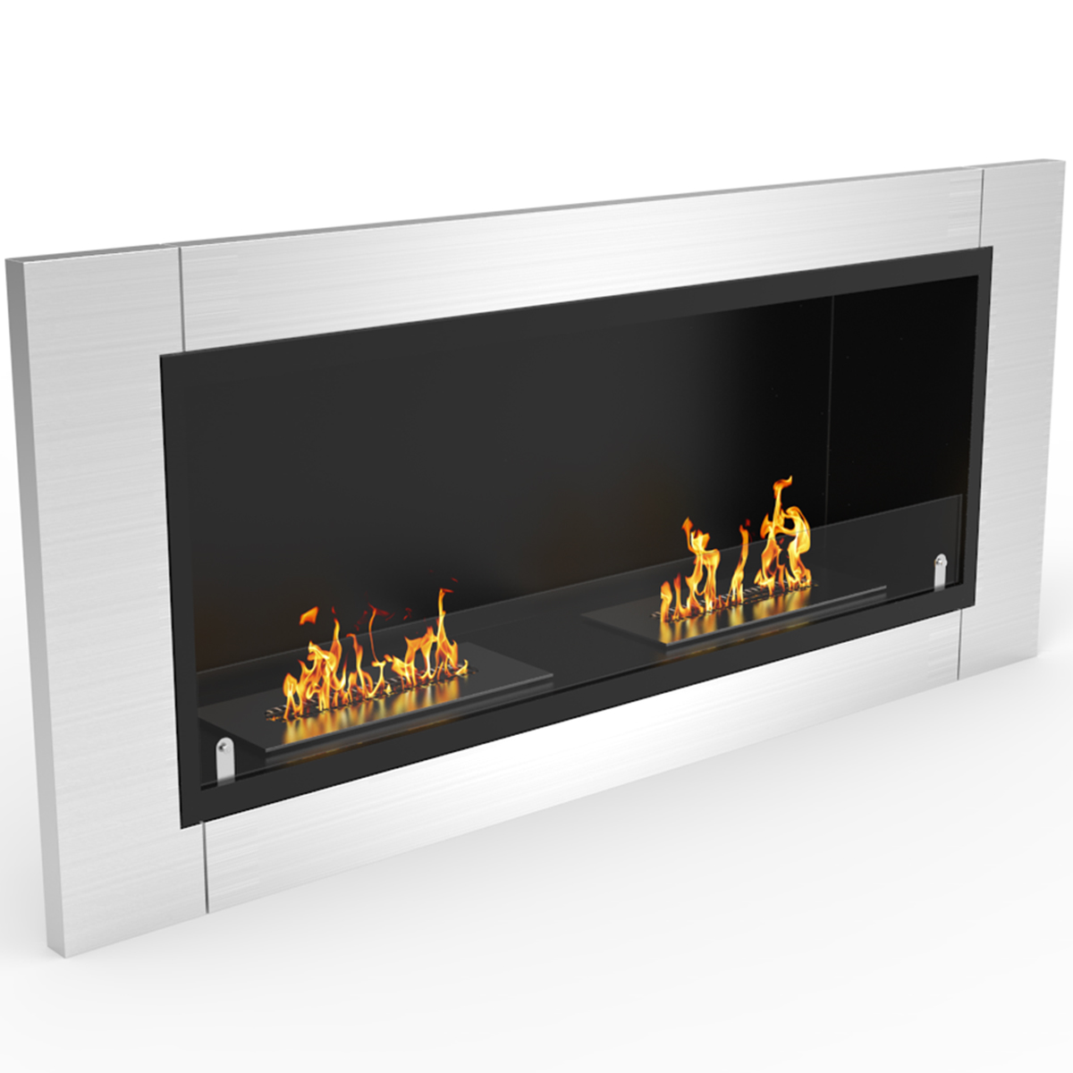 fargo 43 inch ventless built in recessed bio ethanol wall mounted