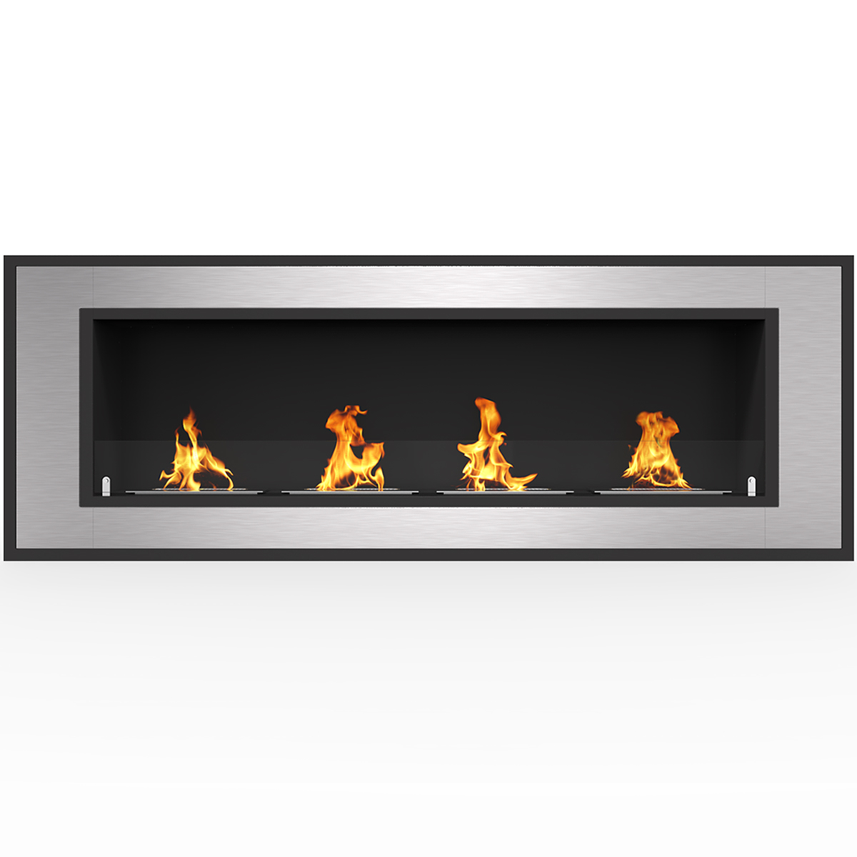 cynergy 60 inch ventless built in recessed bio ethanol wall