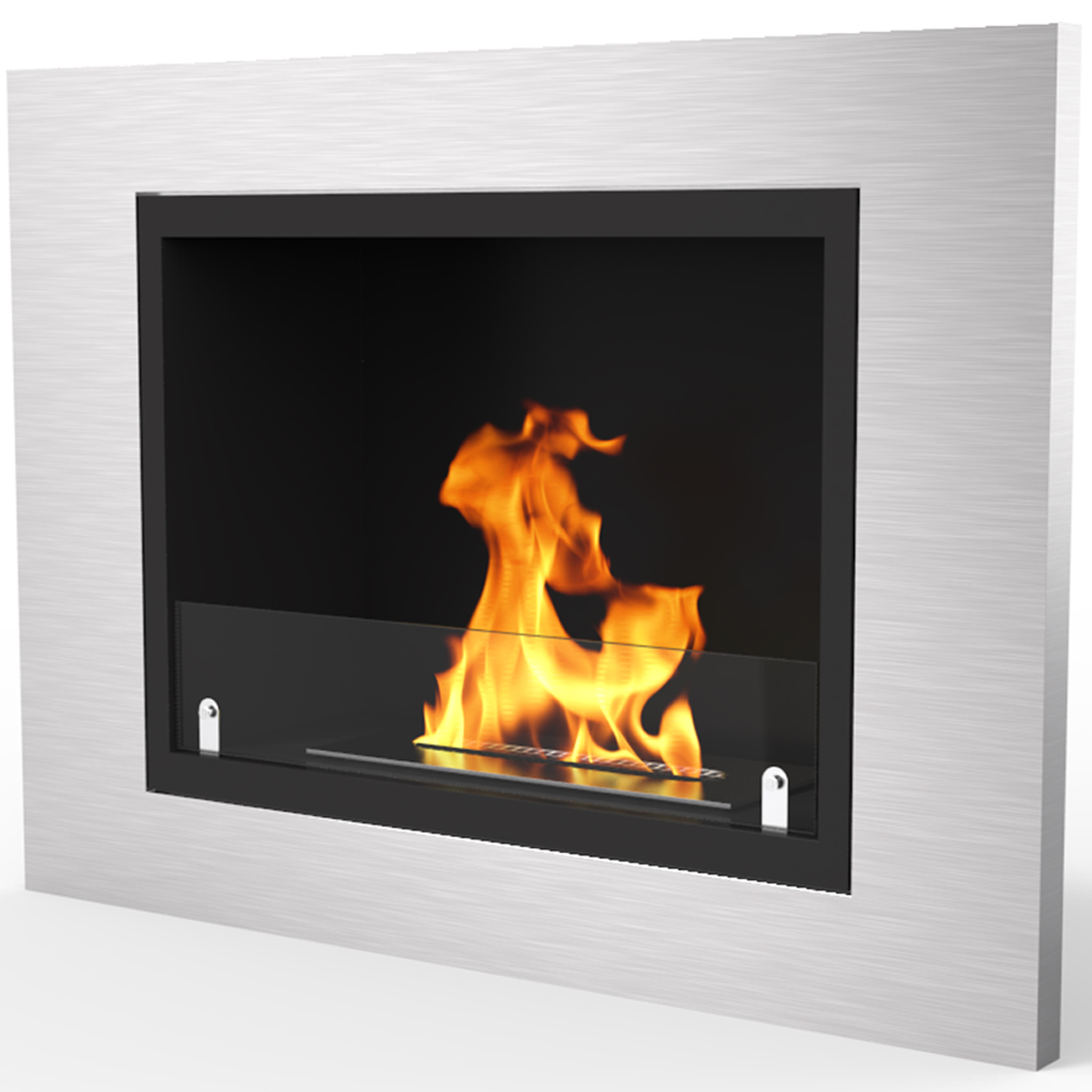 flame listed ul built fireplace firebox ss in bio ethanol the products
