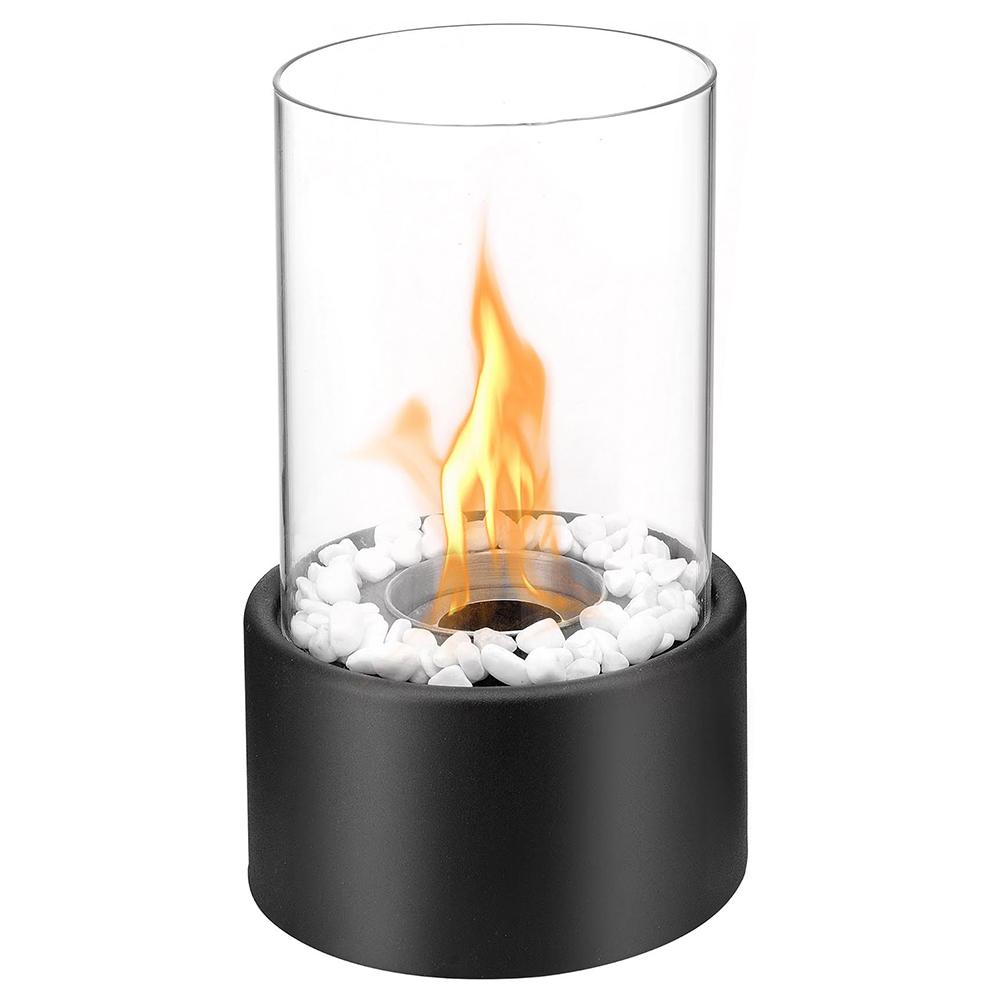 Eden Ventless Tabletop Portable Bio Ethanol Fireplace In Black