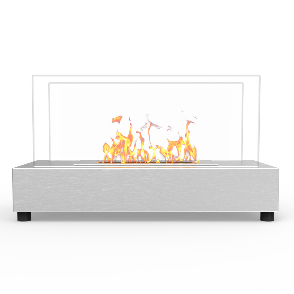 avon tabletop portable bio ethanol fireplace in stainless steel