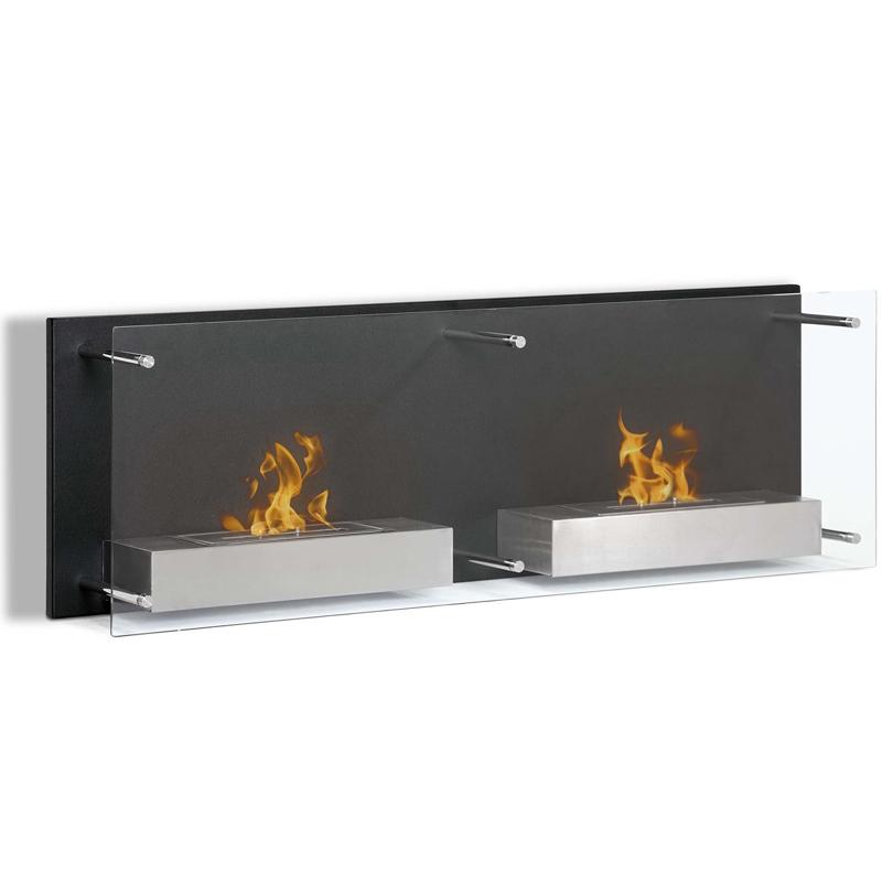 Mora 47 Inch Ventless Wall Mounted Bio Ethanol Fireplace