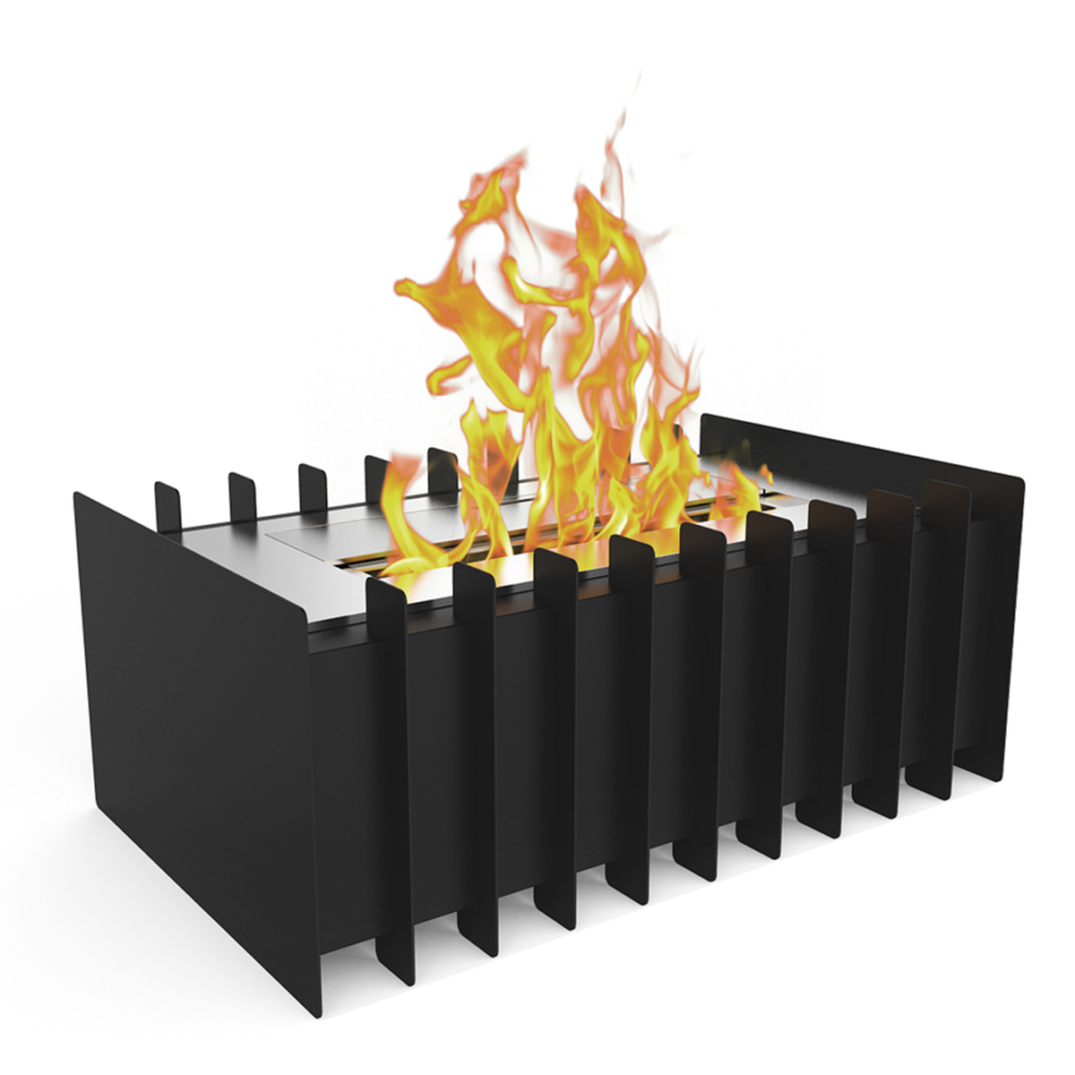 PRO 12 Inch Ventless Bio Ethanol Fireplace Grate Burner Insert   1.5 Liter