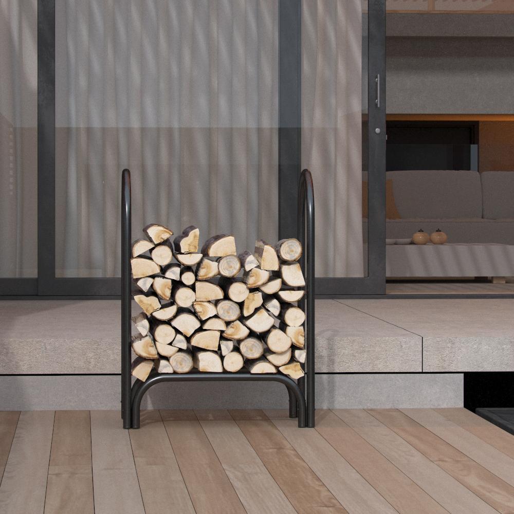 28 Inch Indoor Outdoor Firewood Shelter Log Rack