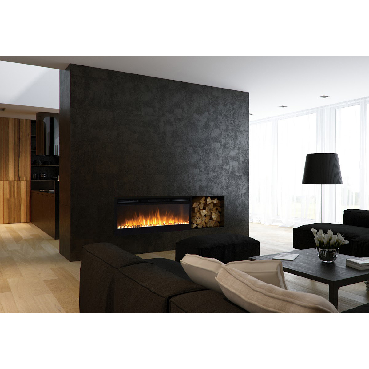 recessed electric fireplace dimplex lexington 35 inch builtin ventless heater recessed wall mounted electric fireplace pebble