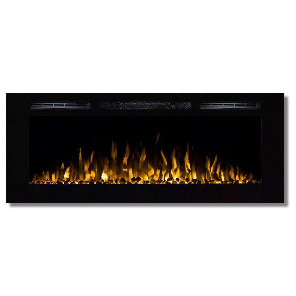 Wall Mount Electric Fireplace Or Recessed Within Designs: Fusion 50 Inch Built-in Ventless Heater Recessed Wall