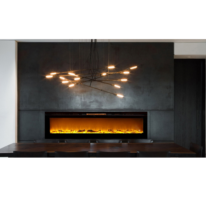 Astoria 60 Inch Built-in Ventless Heater Recessed Wall Mounted Electric Fireplace - Log-Astoria 60 Inch Built-in Ventless Heater Recessed Wall Mounted Electric Fireplace - Log If you want to add a dynamic and vivacious vibe to a room