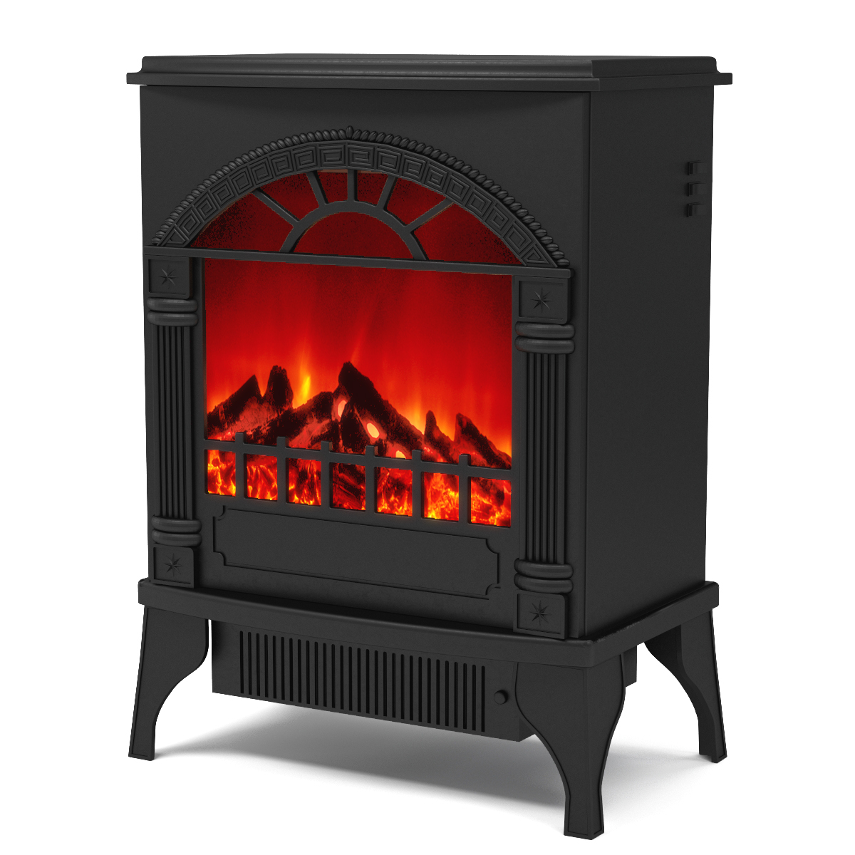 Apollo Electric Fireplace Free Standing Portable Space Heater Stove-Apollo Electric Fireplace Free Standing Portable Space Heater Stove The Apollo electric stove delivers a classic picture frame front and dancing flame in a small package. No need to