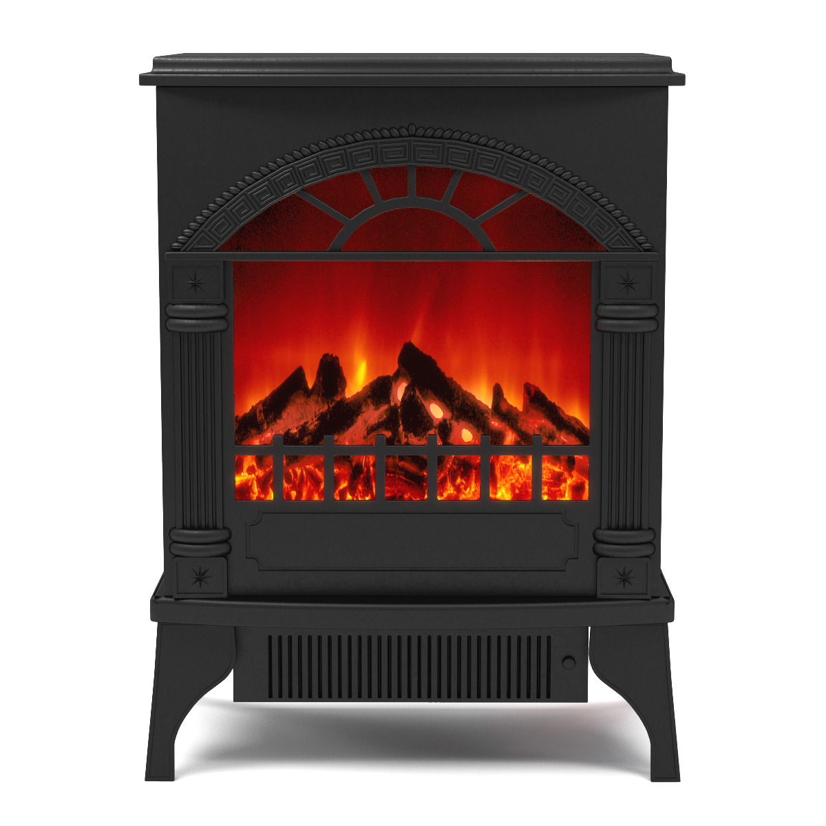 apollo electric fireplace free standing portable space heater stove. Black Bedroom Furniture Sets. Home Design Ideas