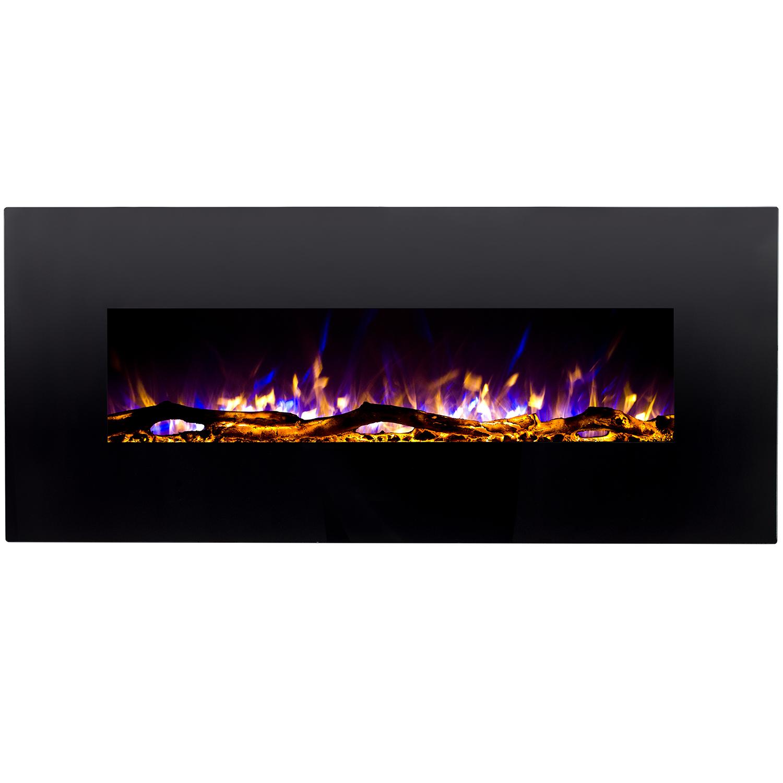 Ashford 50 Inch Black Ventless Heater Electric Wall