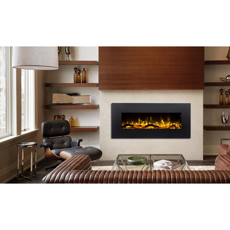 ashford 50 inch black ventless heater electric wall. Black Bedroom Furniture Sets. Home Design Ideas