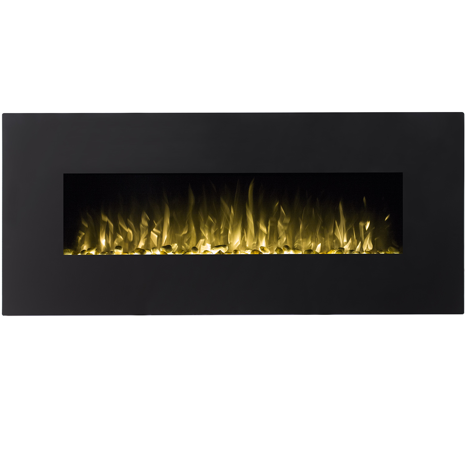 rigel 50 inch black ventless heater electric wall mounted