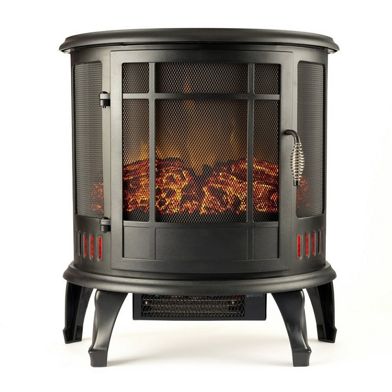 22 Inch Heater Ventless Curved Electric Fireplace Stove
