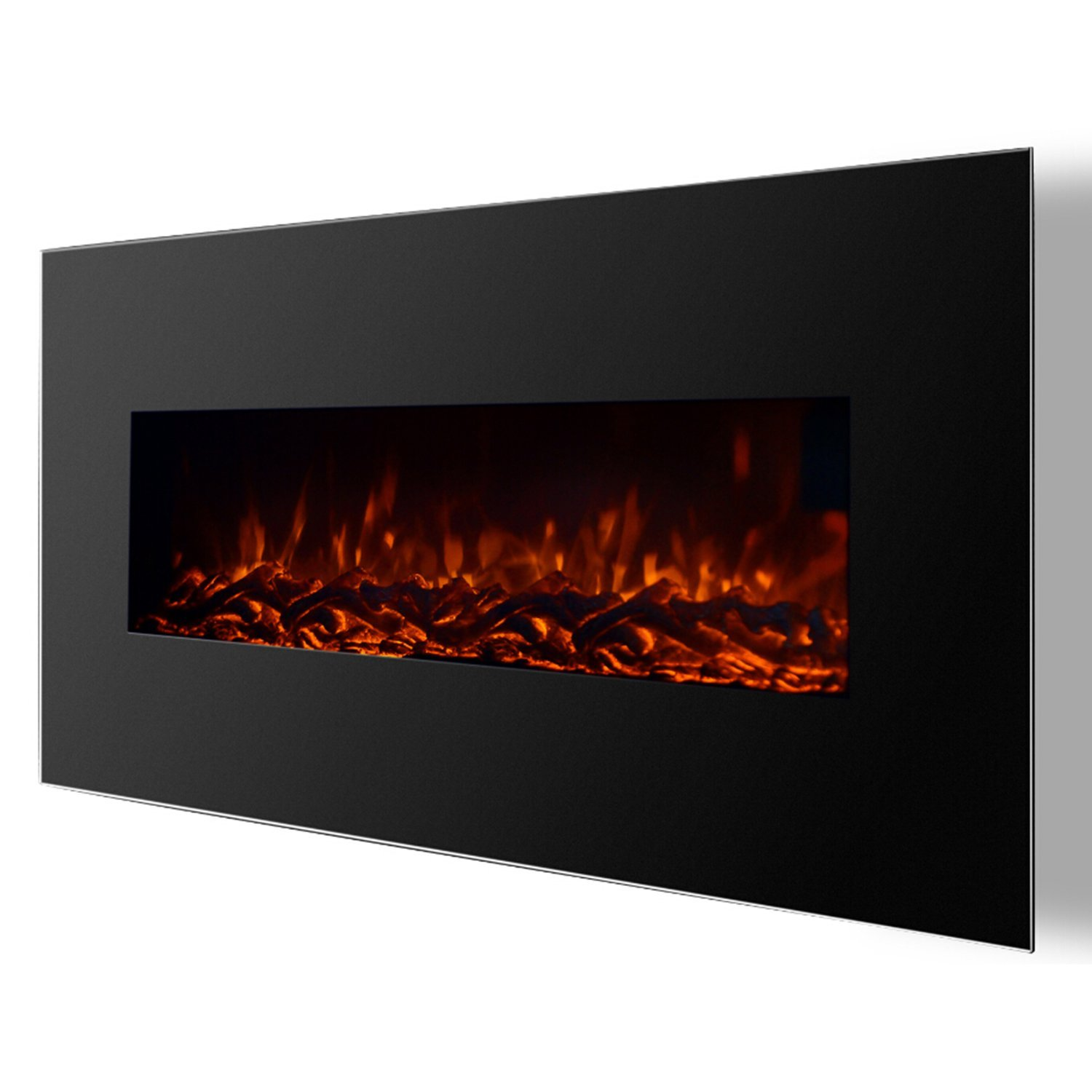Valencia 50 Inch Black Ventless Heater Electric Wall