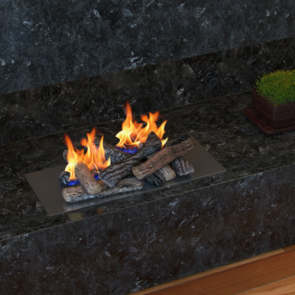 set of 8 ceramic fiber propane gel ethanol or gas fireplace logs