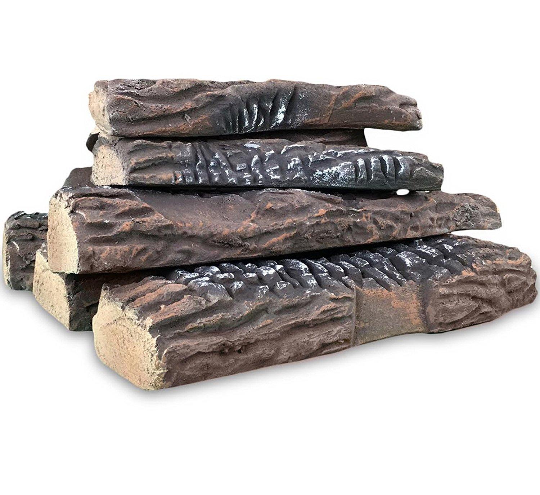 set of 10 ceramic fiber propane gel ethanol or gas fireplace logs