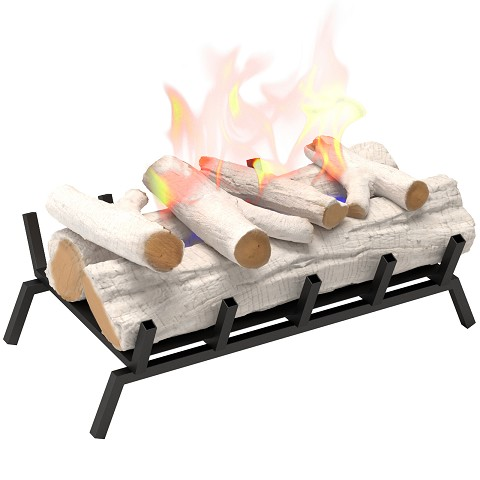 24 inch Convert to Ethanol Fireplace Log Set with Burner Insert from Gel or Gas Logs in Birch