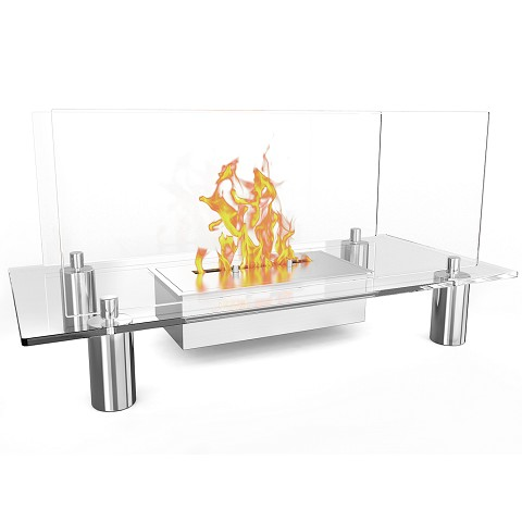 Delano Ventless Free Standing Ethanol Fireplace