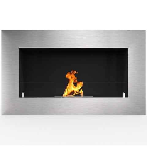 Warren 35 Inch PRO Ventless Built In Recessed Bio Ethanol Wall Mounted Fireplace