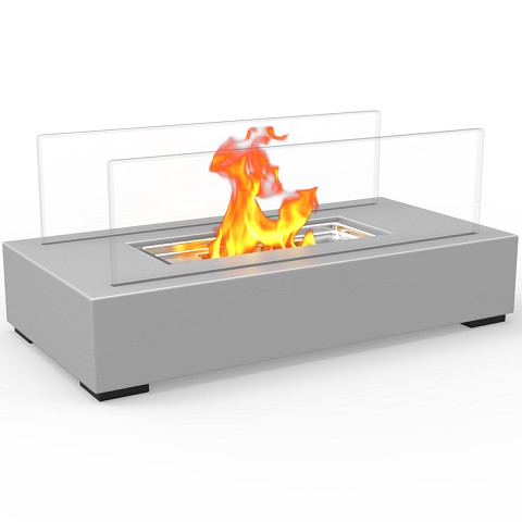 Utopia Ventless Tabletop Portable Bio Ethanol Fireplace in Gray
