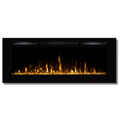 Fusion 50 Inch Built-in Ventless Heater Recessed Wall Mounted Electric Fireplace - Crystal
