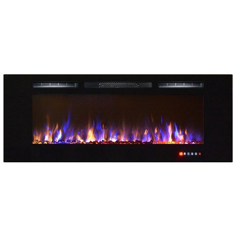 Astoria 60 Inch Built-in Ventless Heater Recessed Wall Mounted Electric Fireplace - Multi-Color-Astoria 60 Inch Built-in Ventless Heater Recessed Wall Mounted Electric Fireplace - Multi-Color If you want to add a dynamic and vivacious vibe to a room