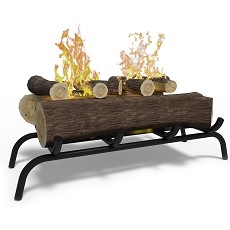 18 inch Convert to Ethanol Fireplace Log Set with Burner Insert from Gel or Gas Logs - Oak