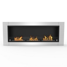 Lenox 54 Inch Ventless Built In Recessed Bio Ethanol Wall Mounted Fireplace