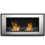 Brooks 47 Inch Ventless Built In Recessed Bio Ethanol Wall Mounted Fireplace