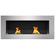 Warren 42 Inch PRO Ventless Built In Recessed Bio Ethanol Wall Mounted Fireplace