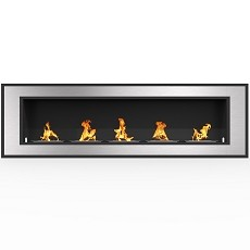 Cynergy 72 Inch Ventless Built In Recessed Bio Ethanol Wall Mounted Fireplace
