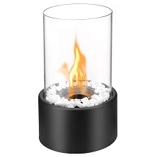 Eden Ventless Tabletop Portable Bio Ethanol Fireplace in Black