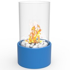Eden Ventless Tabletop Portable Bio Ethanol Fireplace in Blue