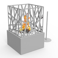 Bruno Ventless Tabletop Portable Bio Ethanol Fireplace in Gray