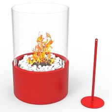 Casper Ventless Ventless Tabletop Portable Bio Ethanol Fireplace in Red