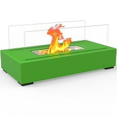 Utopia Ventless Tabletop Portable Bio Ethanol Fireplace in Green