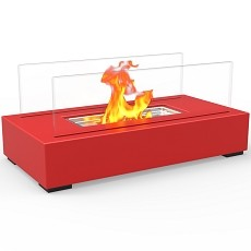 Utopia Ventless Tabletop Portable Bio Ethanol Fireplace in Red