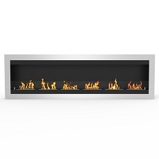 Fresno 83 Inch Ventless Wall Mounted Bio Ethanol Fireplace