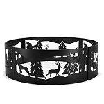 Wilderness 36 Inch Backyard Garden Home Running Horse Light Wood Fire Pit Fire Ring