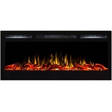 Lexington 35 Inch Built-in Ventless Heater Recessed Wll Mounted Electric Fireplace - Log