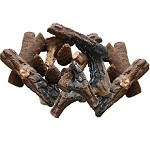 Set of 18 Ceramic Fiber Petite Propane Gel Ethanol or Gas Fireplace Logs