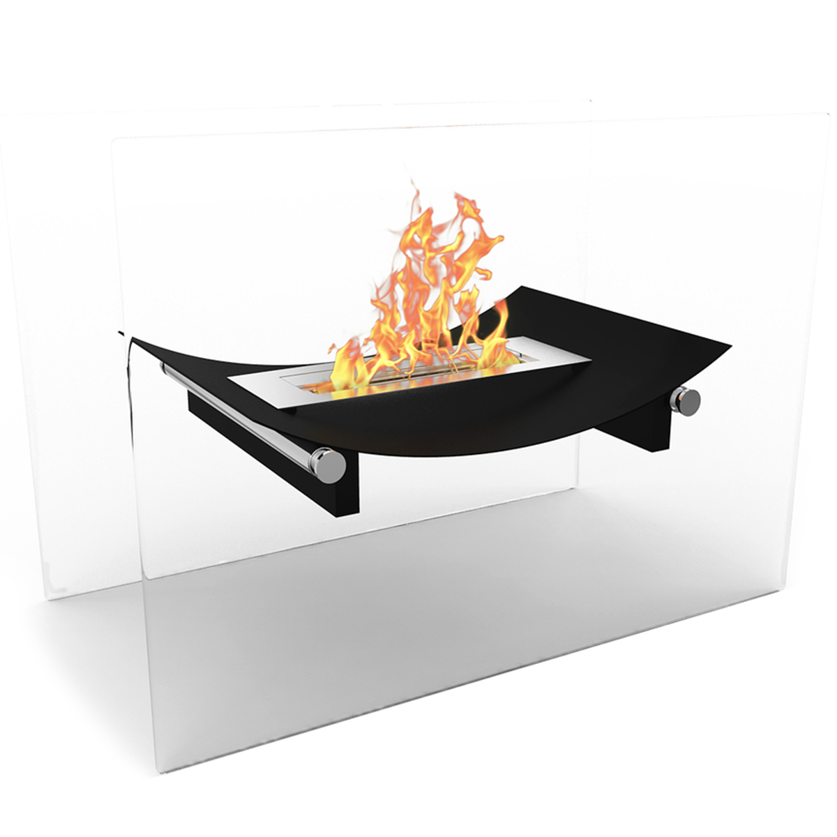 Regal Flame Bow Fire Pit Ventless Free Standing Ethanol Fireplace In Black Ebay