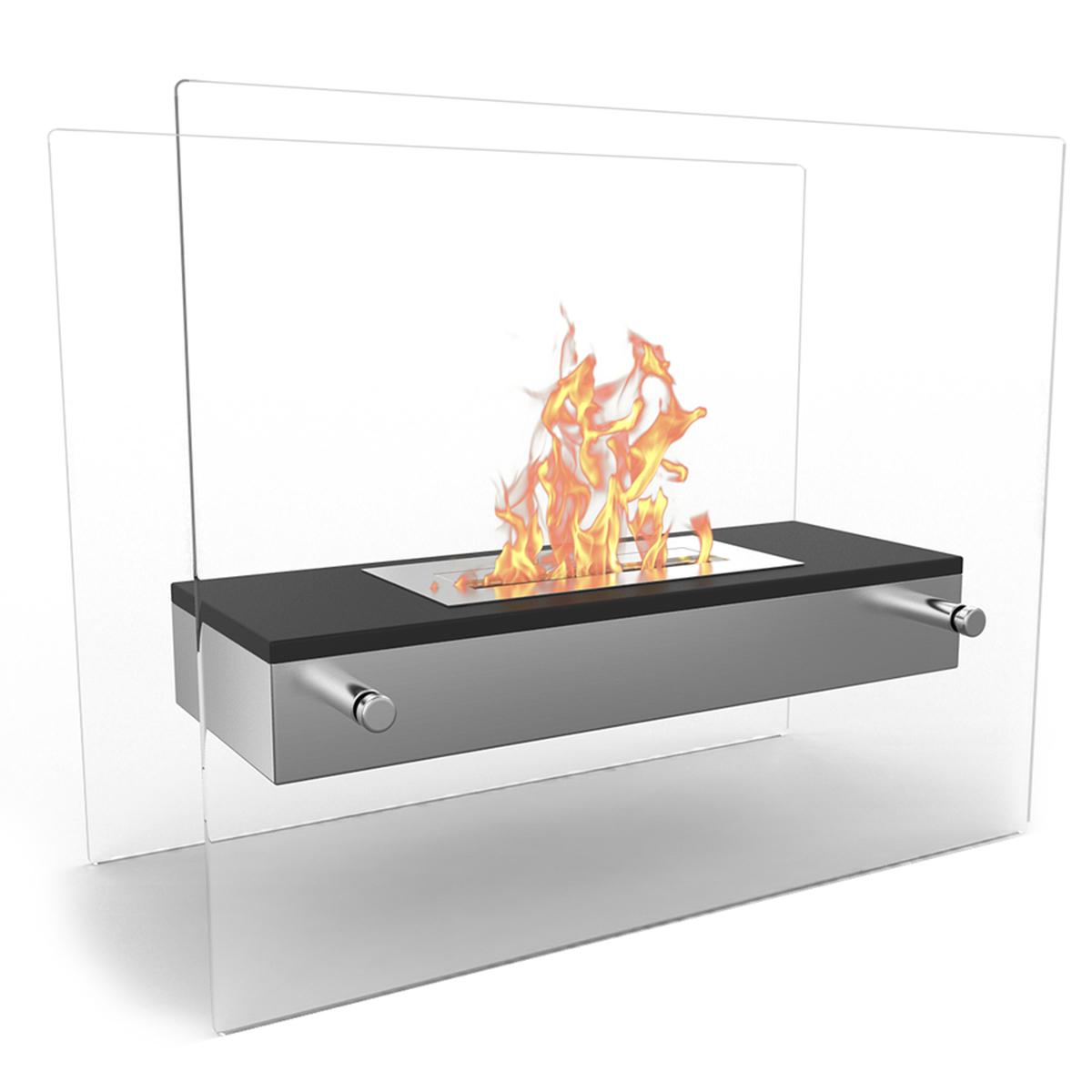 Vista Tabletop Portable Bio Ethanol Fireplace In Black