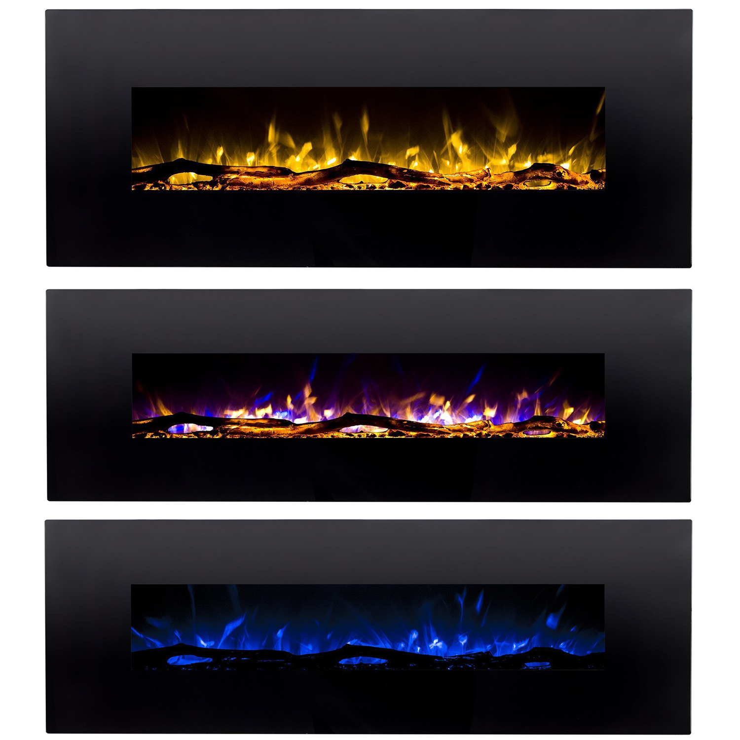Details About Regal Flamedenali 60 3 Color Ventless Heater Electric Wall Mounted Fireplace