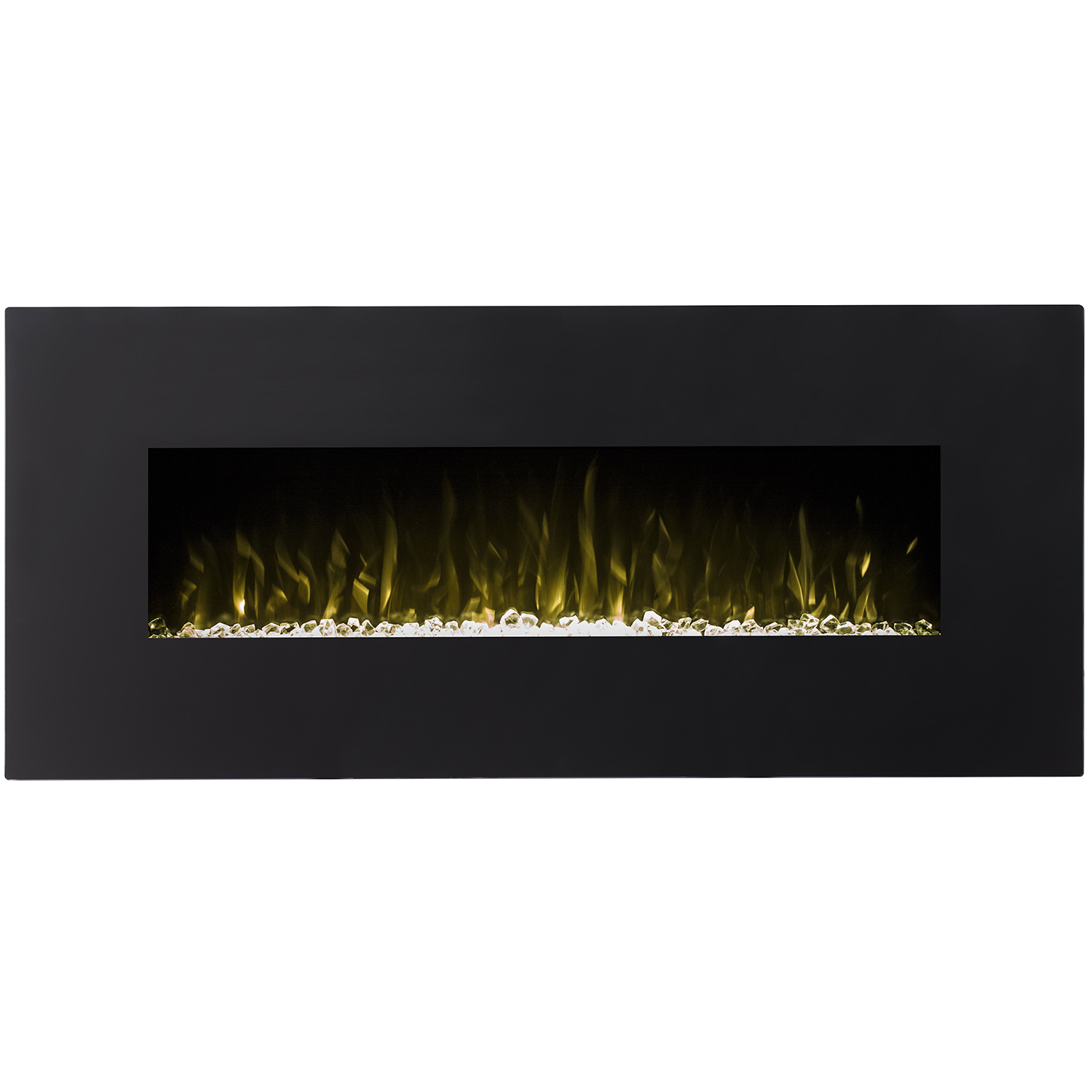 Details About Ryan Rove Orion 50 Black Ventless Heater Electric Wall Mounted Fireplace Crystal