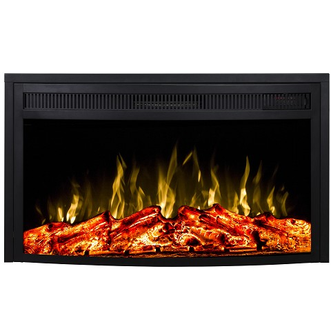 26 Inch Curved Ventless Heater Electric Fireplace Insert