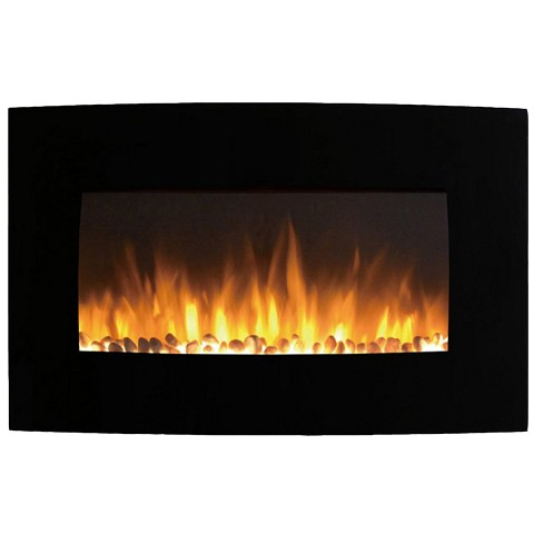Madison 35 Inch Ventless Heater Electric Wall Mounted Fireplace - Pebble